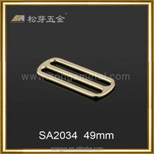 Glossy Plated Alloy Metal Backpack Buckle hardware, Square Buckle For Backpack Hardware