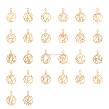 Best Selling Wholesale Custom Made Metal Name Designs 24k Gold Pendants