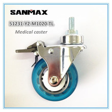 Sanmax factory direct sale 3 inch pu medical caster wheel , swivel caster wheels, hospital bed caster