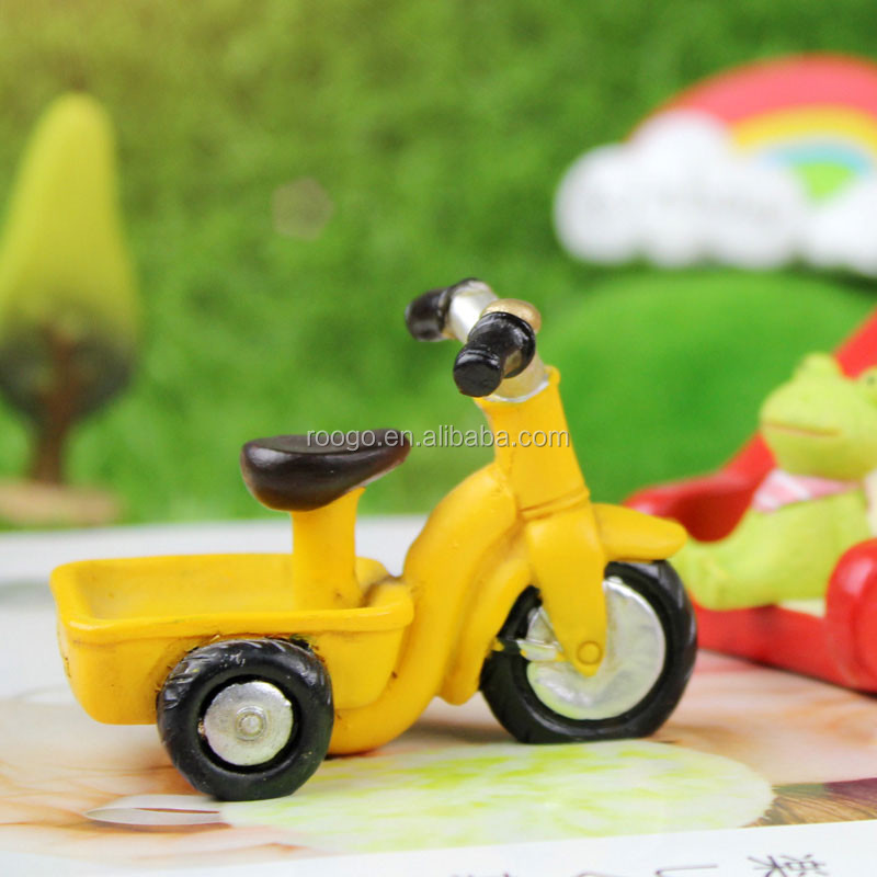 miniature resin tricycle decor handmade baby souvenirs home decorating
