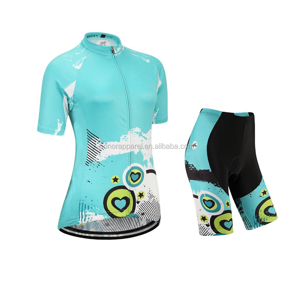 Custom New Design Mountain Bike Jersey and Shorts for Women