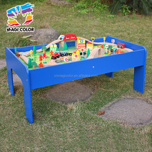 Wholesale cheap educational wooden full set assemble railway train tracks toy for kids W04C009A