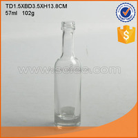 Mini 50ml glass wine bottles vodka glass bottles portable glass liquor bottles.