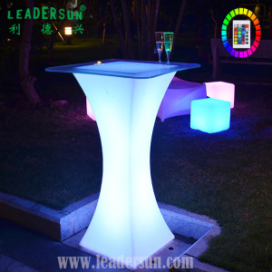 Intelligent Illuminated colorful high top led bar furniture chair cocktail tables