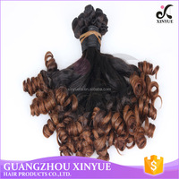 The new products 18 inch -24 inch unprocessed fumi hair ombre hair extension for girls
