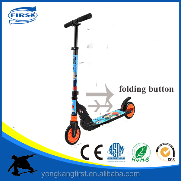 New design Decathlon vesion factory own develop kids <strong>2</strong> wheel scooter with one second folding