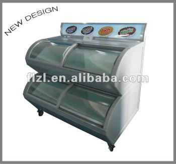 2 tiers showcase freezer,super market freezer,Multilayer showcase