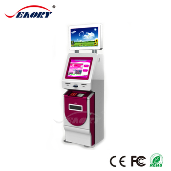 oem best seller products self service food ordering cash acceptor kiosk/ smart card reader kiosk with 22 inch touch screen