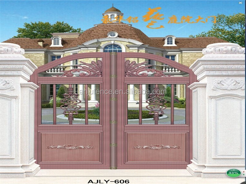 Hot sales fashionable Luxury Aluminium main gate design AJLY-606