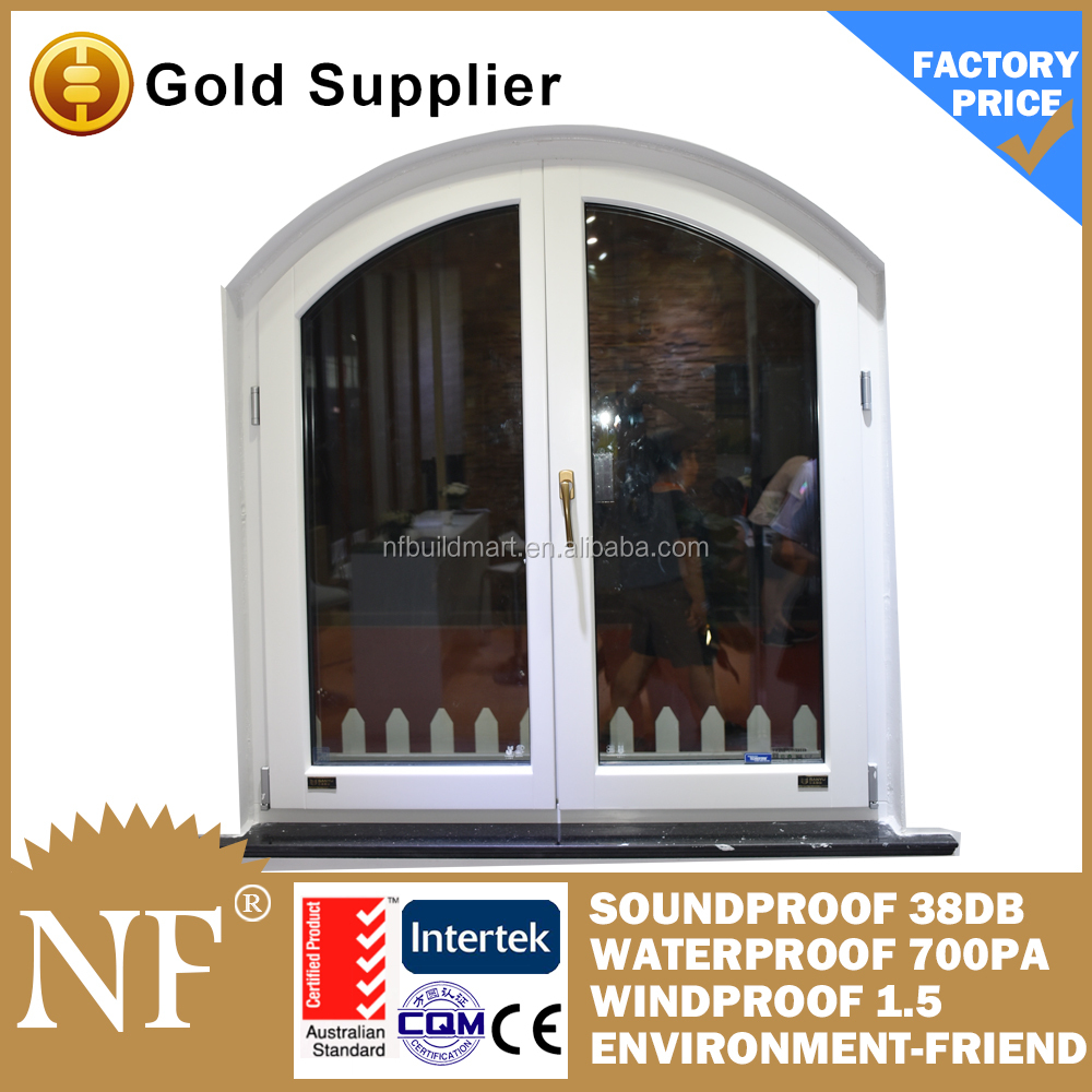 pvc frame round arched window design