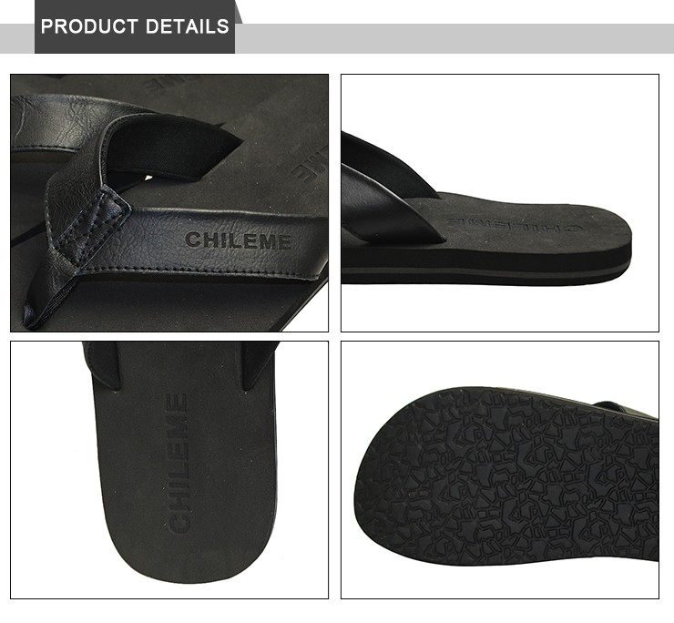 soft genuine leather new flip flops for men 2017