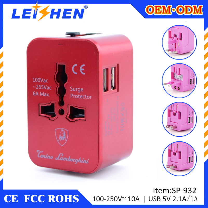 All in one EU USA Australia UK travel plug World Travel USB Power Adapter supplier