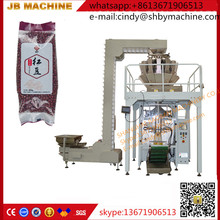 shanghai cheapest JB-420Z automatic multi-head weigher red beans/coffee beans packing machine with guesset device