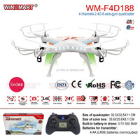 WM-F4D188 2.4G 4 channel 6 axis rc quadcopter with LED light rc drone