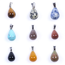 Colorful Natural Gemstones Pendant Findings DIY Jewelry Making