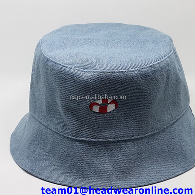 custom demin bucket hat
