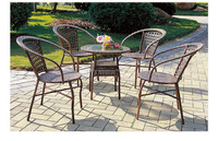 Cheap Aluminium frame outdoor furniture with rattan handmade weave for wholesale