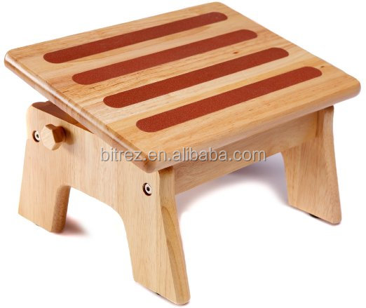 High Quality Adjustable Poplar Wooden Nursing stool toilet step stool