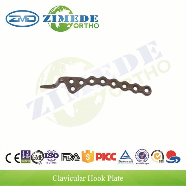 Orthopedic trauma implant ISO CE surgical clavicle hook plate