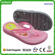 2015 OEM Cute Flashing PVC kid slippers manufacturers