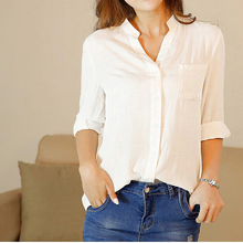 stripe long sleeve style women blouse