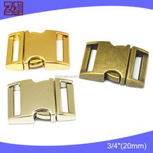 colored metal buckle, metal dog collar buckle, metal curved buckle for pet/bag