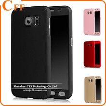 Hybrid Hard PC 360 Degrees Full Protective Case Cover For SamSung Galaxy S6 S7 Cases fundas + Tempered Glass Film