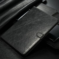 Casemall Slim Smart Magnetic Leather Case+ business card Cover For iPad 4/3/2