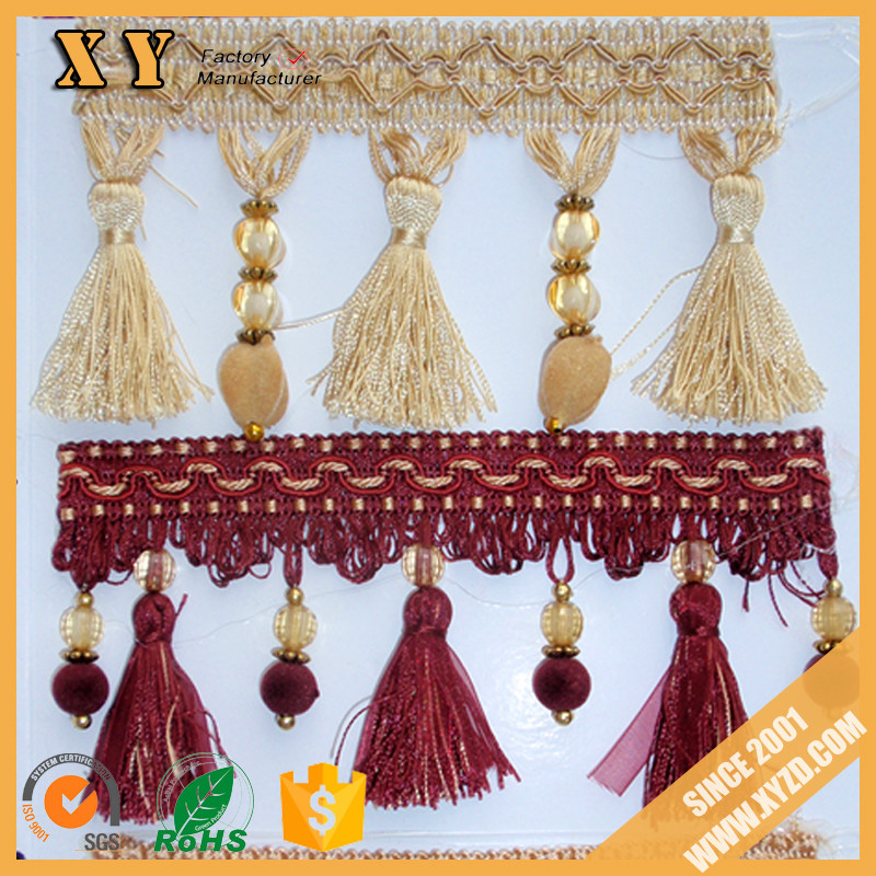 wholesale curtain tassel fringe ,customized tassel ,decorative curtain tassel for curtain accessories ,bed ,bolster