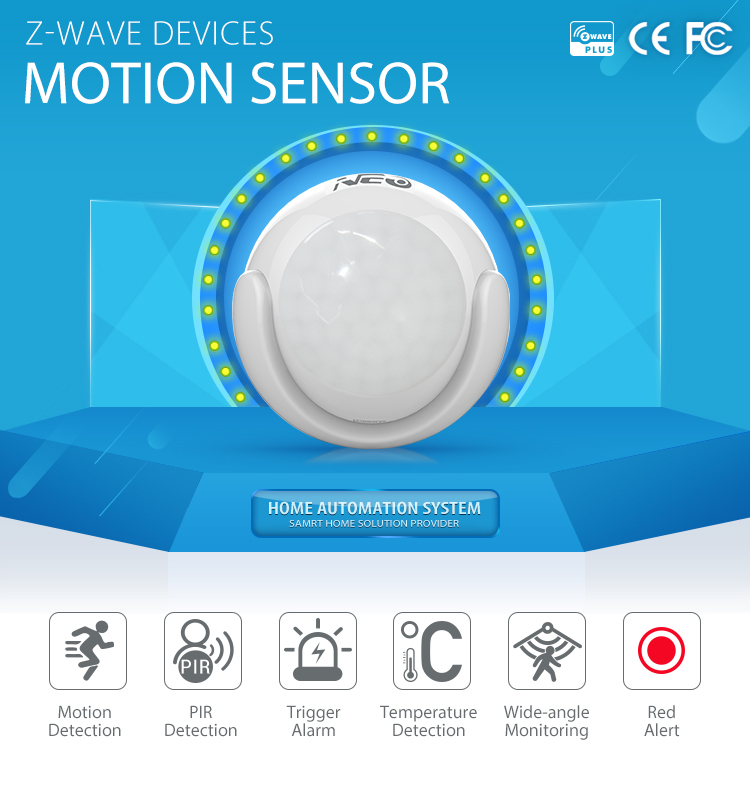 2016 Neo z wave sensor,Wireless motion sensor z-wave 868.42mhz,pir motion sensor