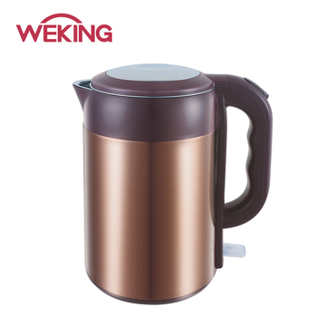 large capacity electric kettle double layers body with printing metal for cool touch