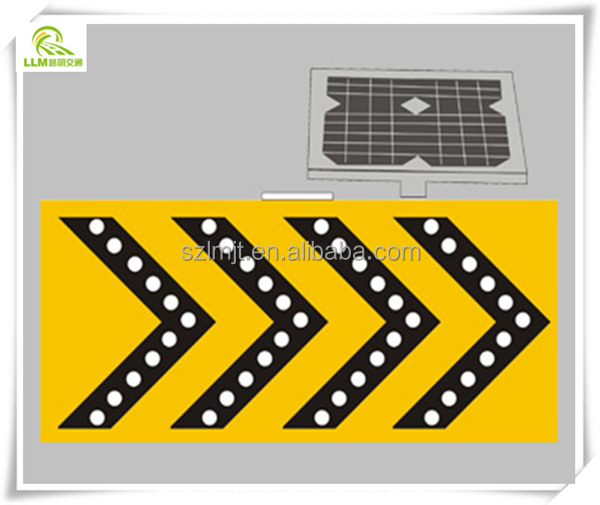 Highway construction safety LED flashing traffic arraw warning sign board