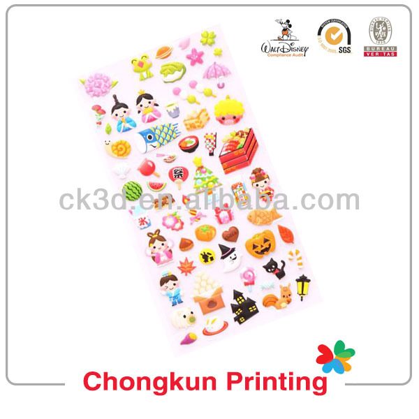 2014 cheap fashion cartoon name sticker printing wholesale hot sale for kids children