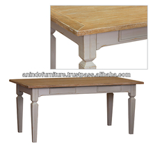 White Wash Top Dining Table