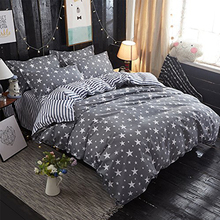 wholesale home use children geometric print triangle tree pattern cotton duvet cover set/bedding set