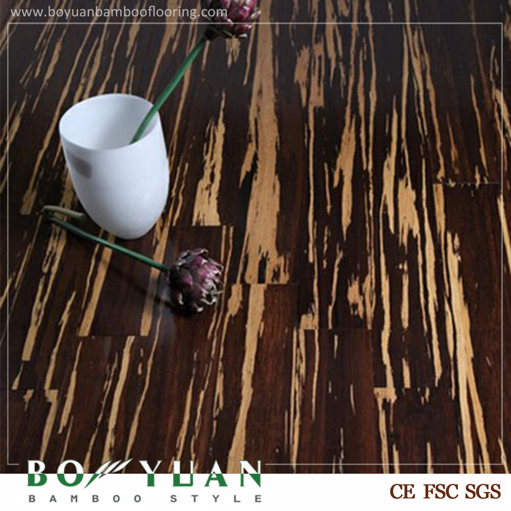 Brand BOYUAN new coming hotsale cheap hdf strand woven bamboo flooring tiger
