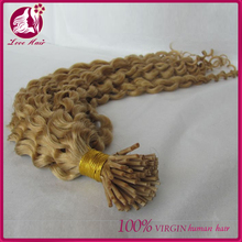 Wholesale High Quality Deep Curly 100% Human Hair Italian Keratin I-Tip Hair Extensions For Black Women
