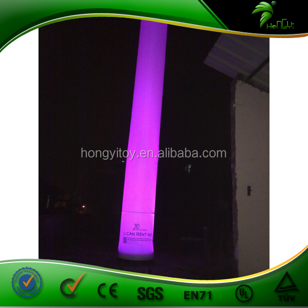 Outdoor Advertising LED Inflatable Pillar / Prism Inflatable Light Tower / Lighting Air Pillar