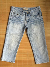 wholesale used clothes used clothing /second hand 3/4 jeans
