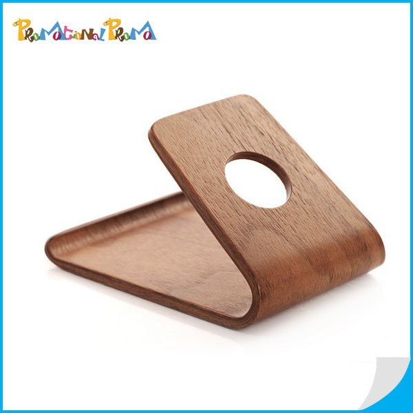 Hot Sale Genuine Wood Anti-slip Mobile Cell Phone Holder