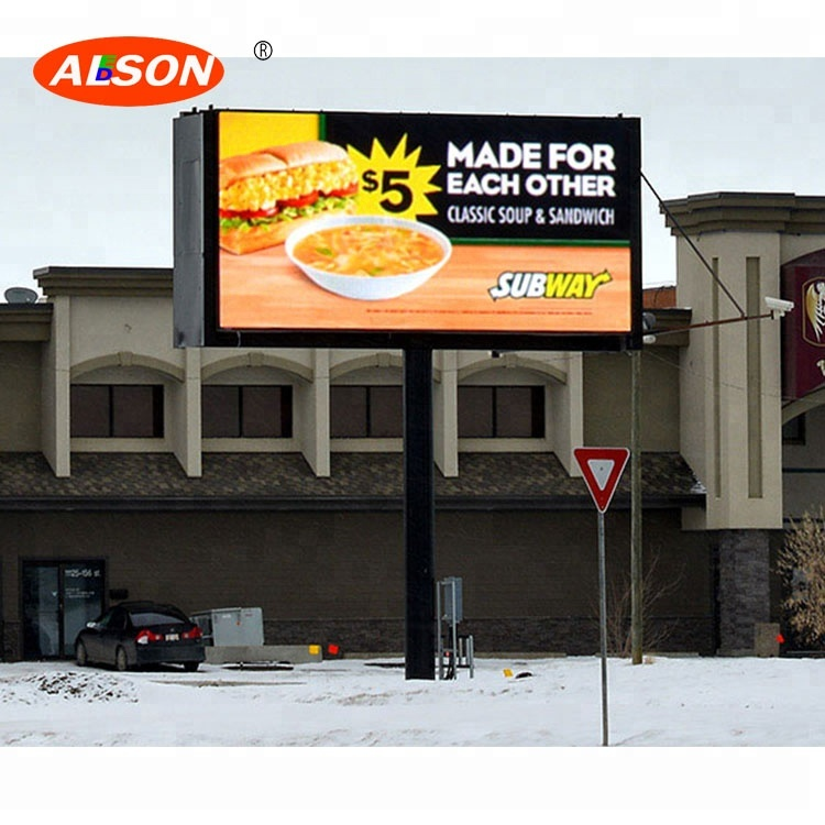 Epistar Led Cabinet <strong>P10</strong> Fixed Waterproof Billboard For Large Business Activity
