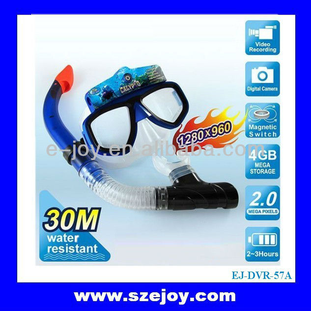 10M Underwater Scuba Mask HD 720P Glass Camera