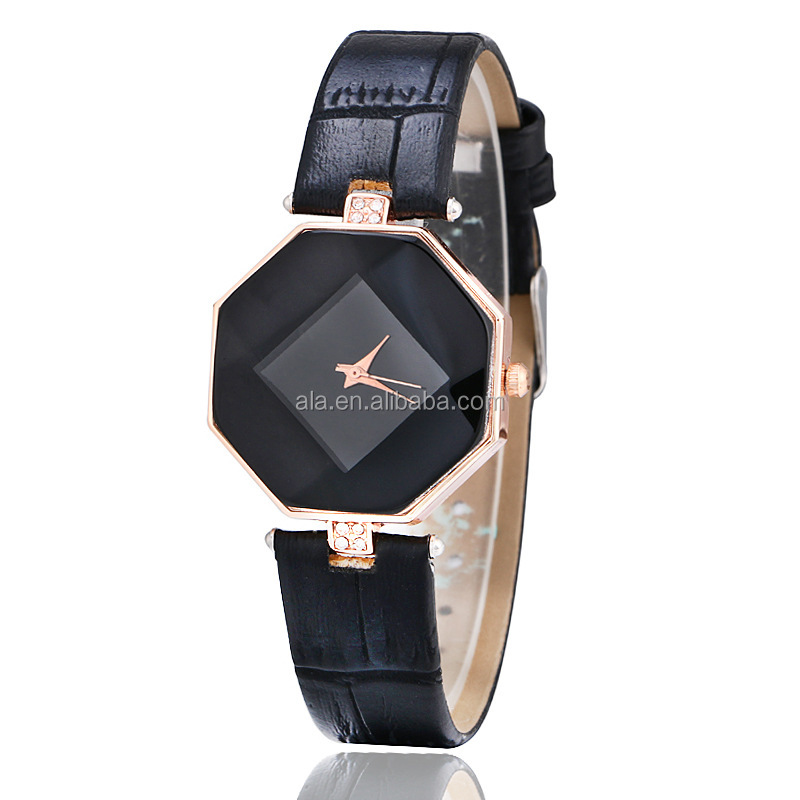Luxury Brand simple elegant no figures Fashion Quartz Watch Women Stainless Steel Bracelet Analog