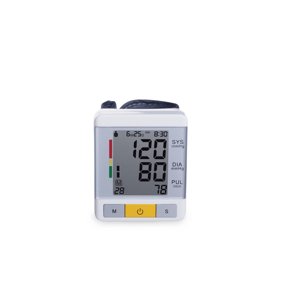 Smart Heart Rate Checking Machine Bp Readings Measuring Device Automatic Wrist Blood Pressure Monitor With Ce Iso