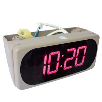 Digital Time Zone Square Wall Clock Low Voltage LED Clock