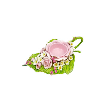 Rose ceramic sauce bowl cup plate tea light candle holders wholesale