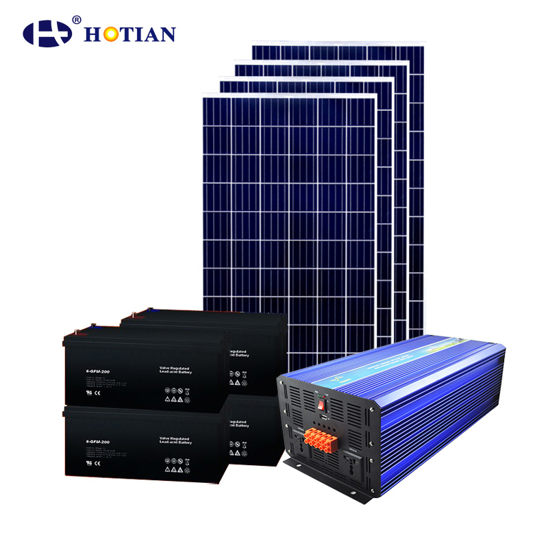 Hotian 500W off grid solar system 500W solar pannel system with battery storage