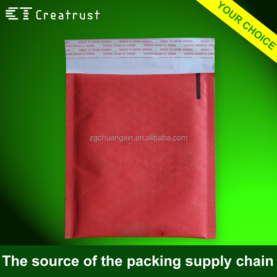 Printed shockproof strong self sealing pink kraft envelope cheap colored envelopes