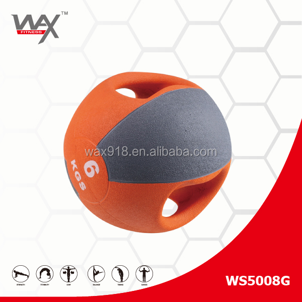 Handle weight Double Grip wall medicine ball