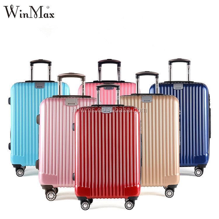 Winmax cheap luggag case abs pc trolley travelling luggage set